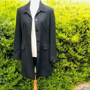 Katies Vintage Style Black Trench Coat | Size :8